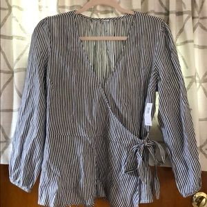 Old Navy Blue & White Striped Shirt..NWT